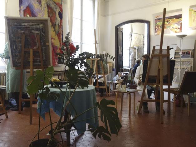 Peinture en atelier